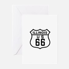 Illinois Route 66 Greeting Cards (Pk of 10)
