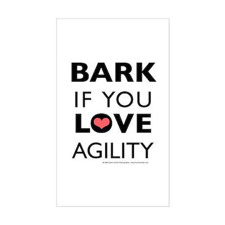 Bark if You Love Agility Rectangle Sticker