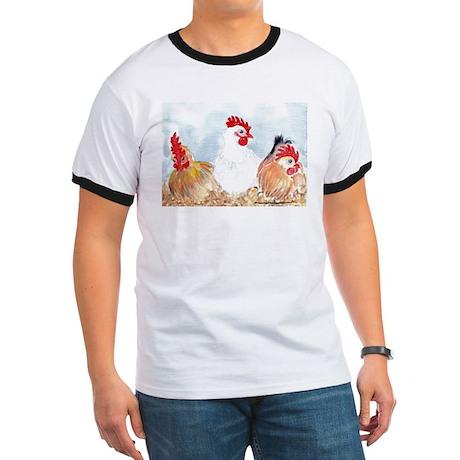 Three Hens Ringer T
