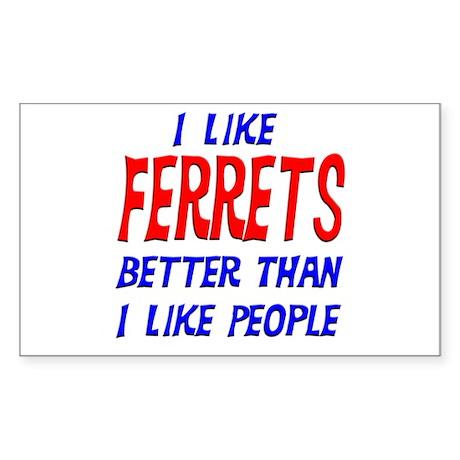 I Like Ferrets Rectangle Sticker