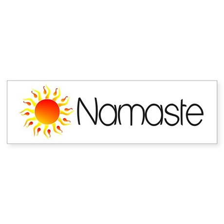 Namaste Sun 2 Bumper Sticker