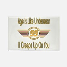 Funny 99th Birthday Rectangle Magnet