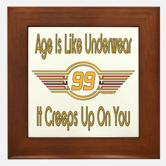 Funny 99th Birthday Framed Tile