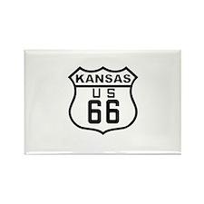 Kansas Route 66 Rectangle Magnet
