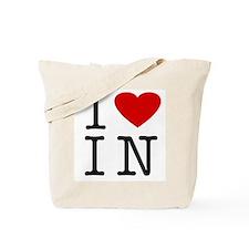 I Love Indiana (IN) Tote Bag