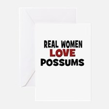 Real Women Love Possums Greeting Cards (Pk of 10)