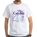 Crochet Purple White T-Shirt