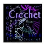 Crochet Purple Tile Coaster