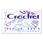Crochet Purple Rectangle Sticker