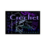 Crochet Purple Rectangle Magnet