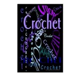 Crochet Purple Postcards (Package of 8)