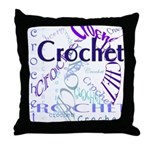 Crochet Purple Throw Pillow