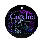 Crochet Purple Ornament (Round)