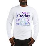 Crochet Purple Long Sleeve T-Shirt