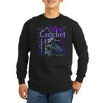 Crochet Purple Long Sleeve Dark T-Shirt