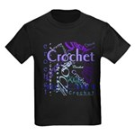 Crochet Purple Kids Dark T-Shirt