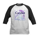 Crochet Purple Kids Baseball Jersey