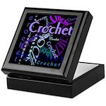 Crochet Purple Keepsake Box