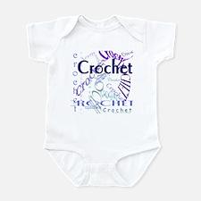 Crochet Purple Infant Bodysuit