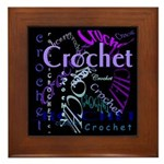 Crochet Purple Framed Tile