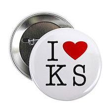 I Love Kansas (KS) Button