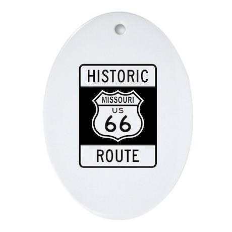 Missouri Historic Route 66 Oval Ornament