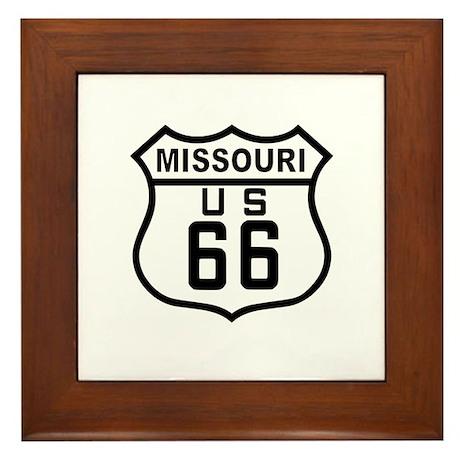Missouri Route 66 Framed Tile