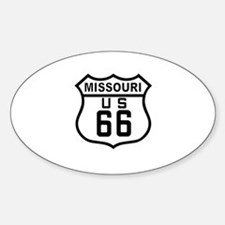 Missouri Route 66 Oval Decal