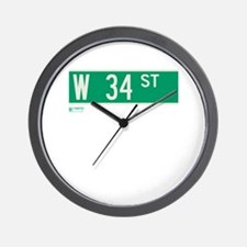 34th Street in NY Wall Clock