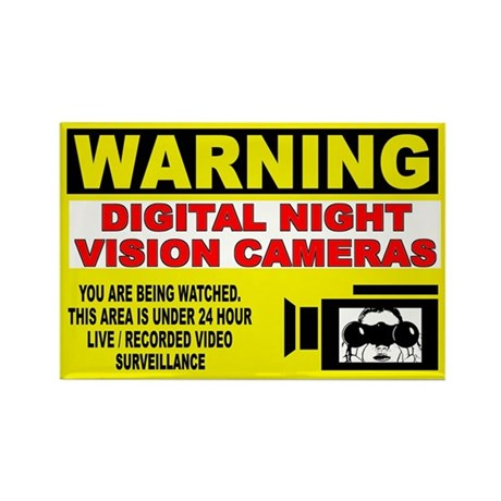 Warning Night Vision Rectangle Magnet