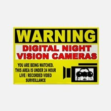 Warning Night Vision Rectangle Magnet (10 pack)