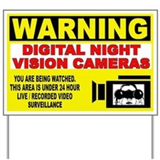 Warning Night Vision Yard Sign