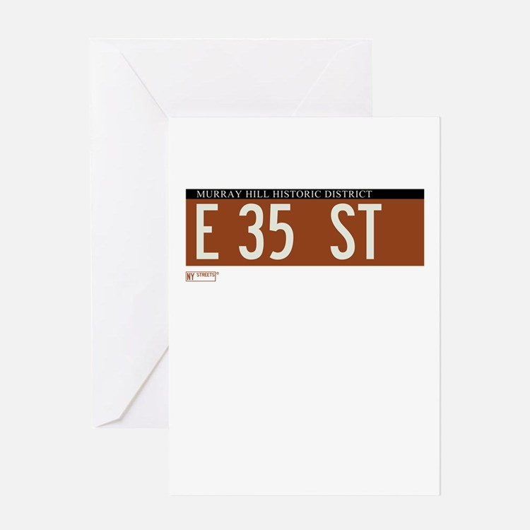 35th Street in NY Greeting Card