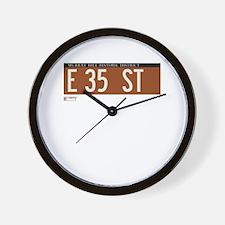 35th Street in NY Wall Clock