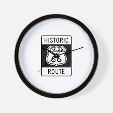 Tulsa, Oklahoma Historic Rout Wall Clock