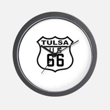 Tulsa Route 66 Wall Clock