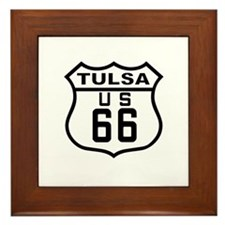 Tulsa Route 66 Framed Tile