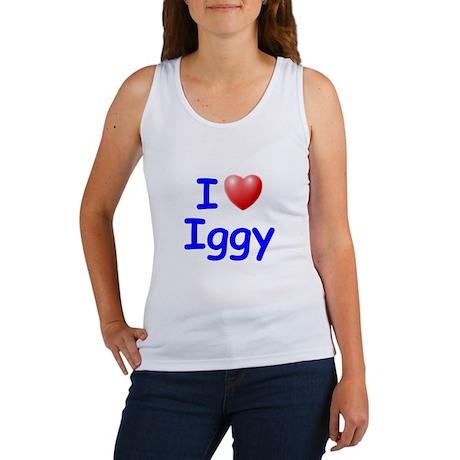 I Love Iggy (Blue) Women's Tank Top