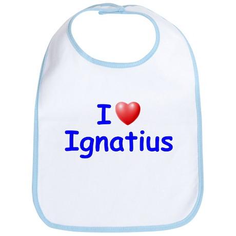 I Love Ignatius (Blue) Bib