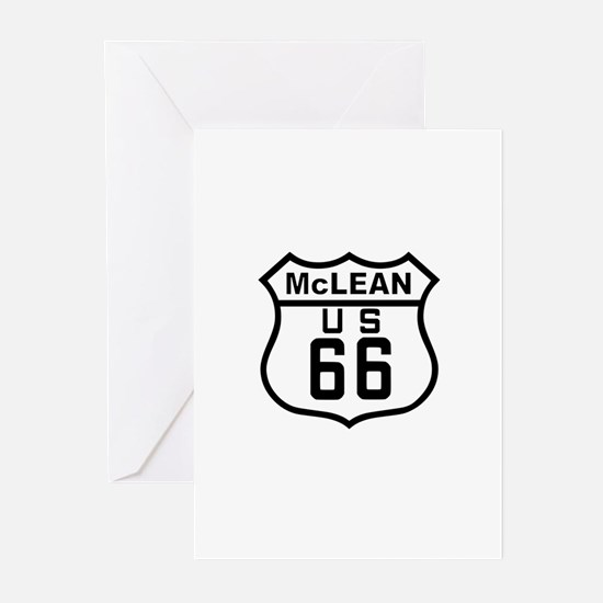 McLean Route 66 Greeting Cards (Pk of 10)