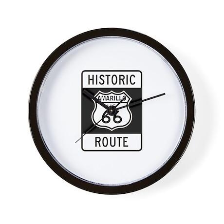 Amarillo Historic Route 66 Wall Clock