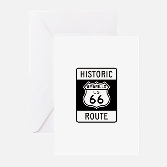 Amarillo Historic Route 66 Greeting Cards (Pk of 1