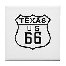 Texas Route 66 Tile Coaster