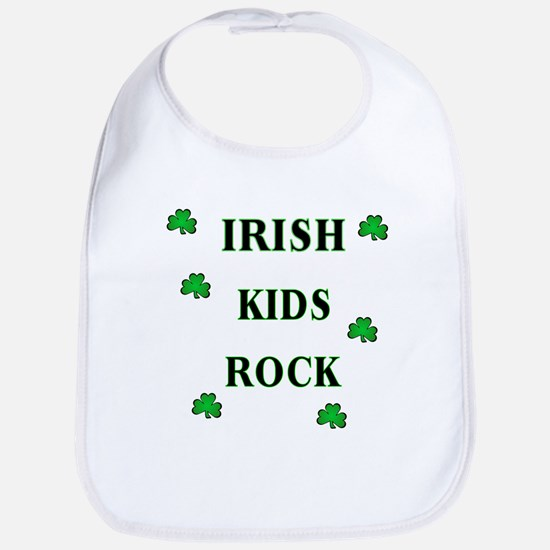 Irish Beer Shamrocks Bib