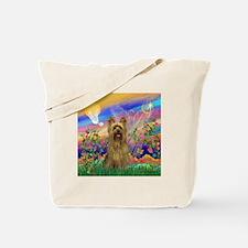 Guardian Angel & Yorkie Tote Bag