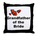 Grandfather of the Bride Throw Pillow