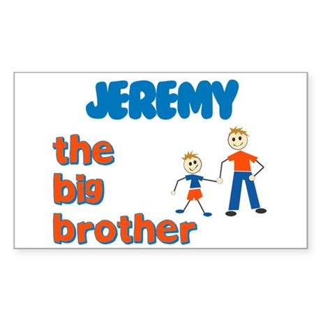 Jeremy - The Big Brother Rectangle Sticker