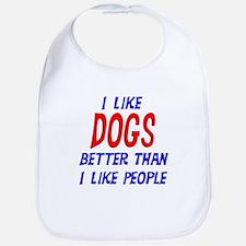 I Like Dogs Bib
