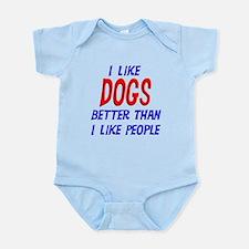 I Like Dogs Infant Bodysuit