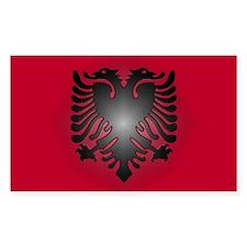 Albanian Rectangle Decal